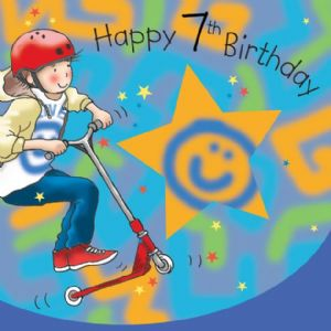TW649 - Age 7 Birthday Card Boys